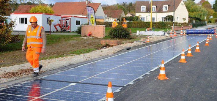 Во Франции появилась первая в мире дорога из солнечных батарей