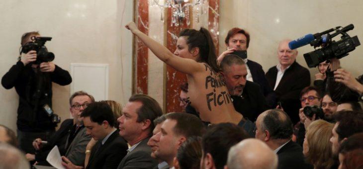 Марин Ле Пен очень не понравилась Femen